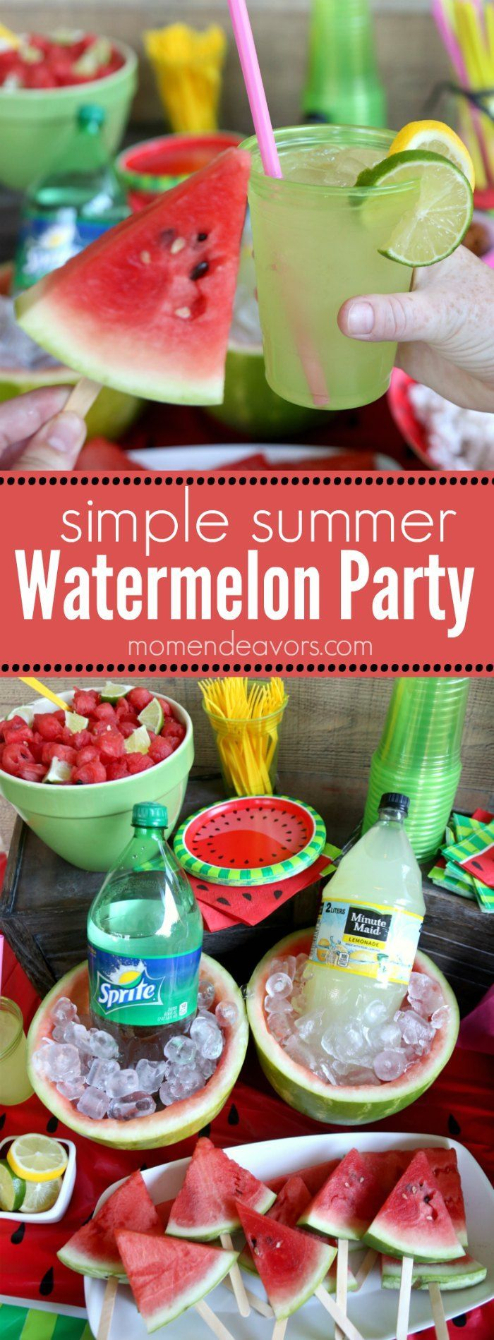 Summer Watermelon Party Ideas - some cute, simple, and fun watermelon ideas for a refreshing summer party! #SummerRefreshment #Kroger AD