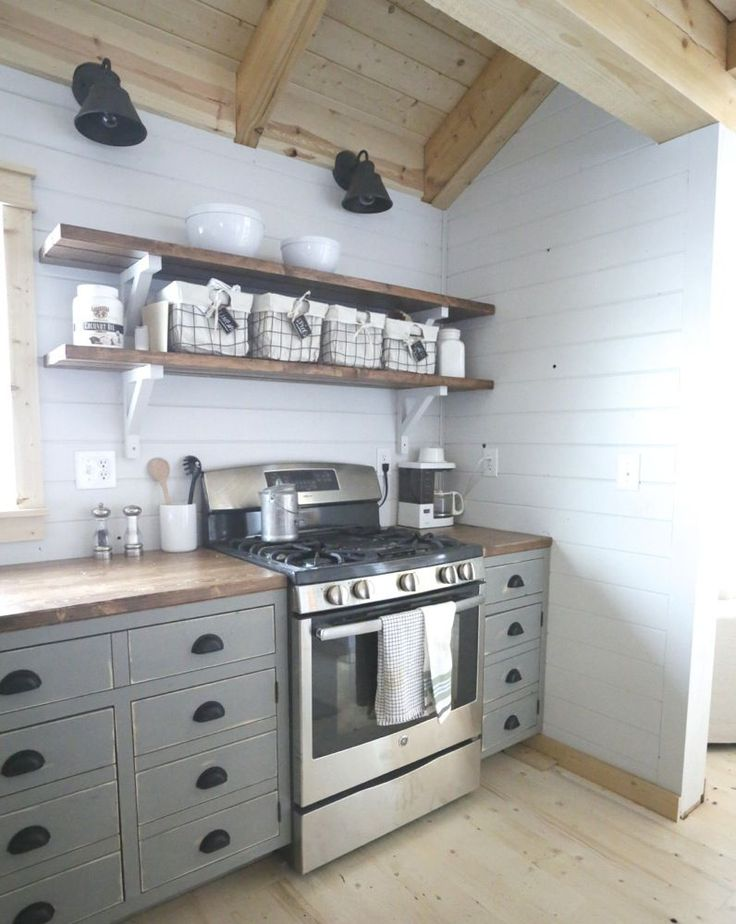 Ana White | Build a Open Shelves for our Cabin Kitchen | Free and Easy DIY Project and Furniture Plans