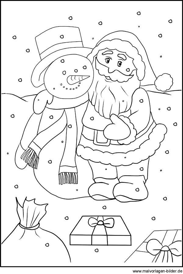 Weihnachtsmann Ausmalbild Und Malvorlage Ausmalbilder Weihnachtsmann Malvorlagen Weihnachten Malvorlagen