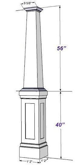 PVC Craftsman Column Wraps Kit 8 ft