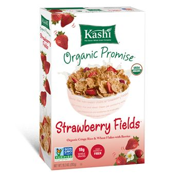 Package shot for Kashi® Strawberry Fields® Cereal Original