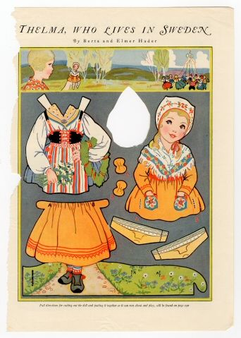 86.3067: Thelma, Who Lives in Sweden | paper doll | Paper Dolls | Dolls | National Museum of Play Online Collections | The Strong