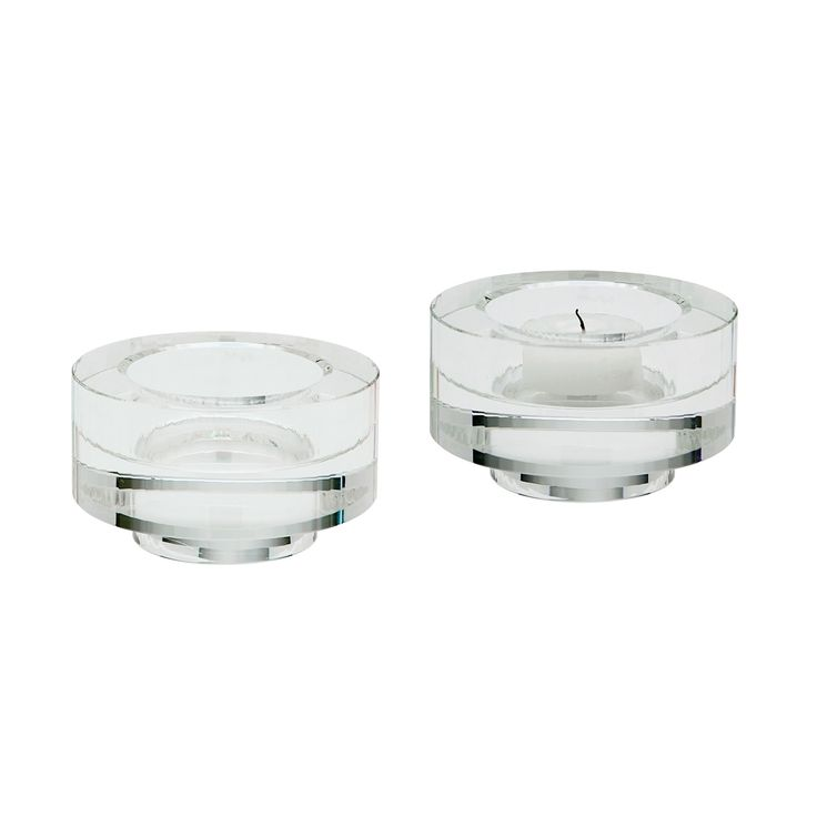Dimond Home 980008/S2 Fluted Crystal Votive -Set Of 2, Clear