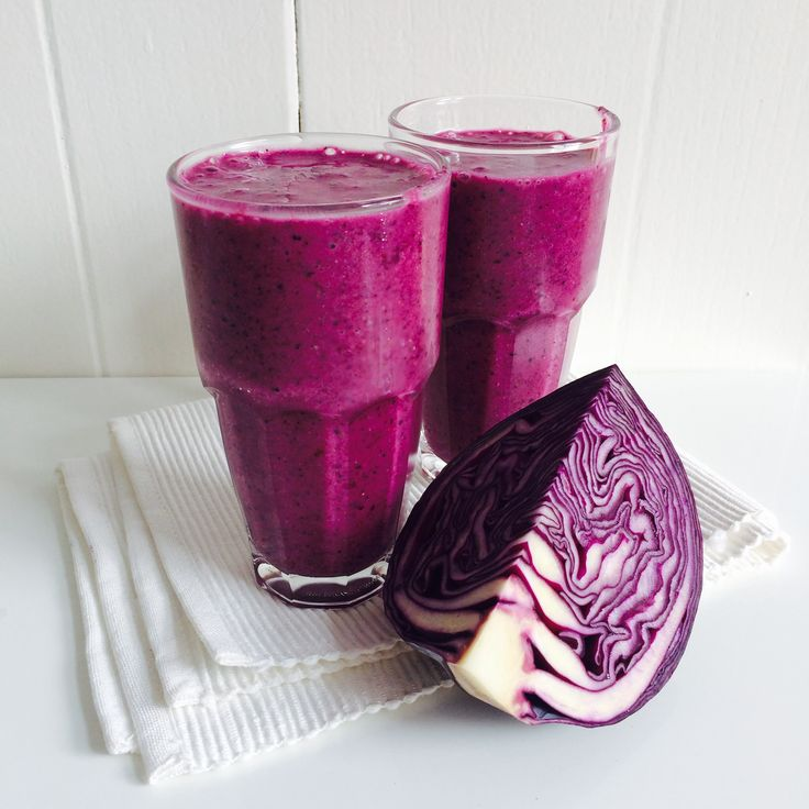 Paarse smoothie met rode kool - Heart4Cooking