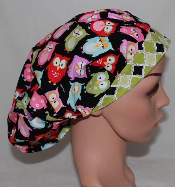Buhos soñolientos Bouffant mujeres talle Hat.OR enfermeras