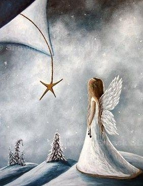 Christmas Angel.  Thank you, Christina, for following my Angels board.