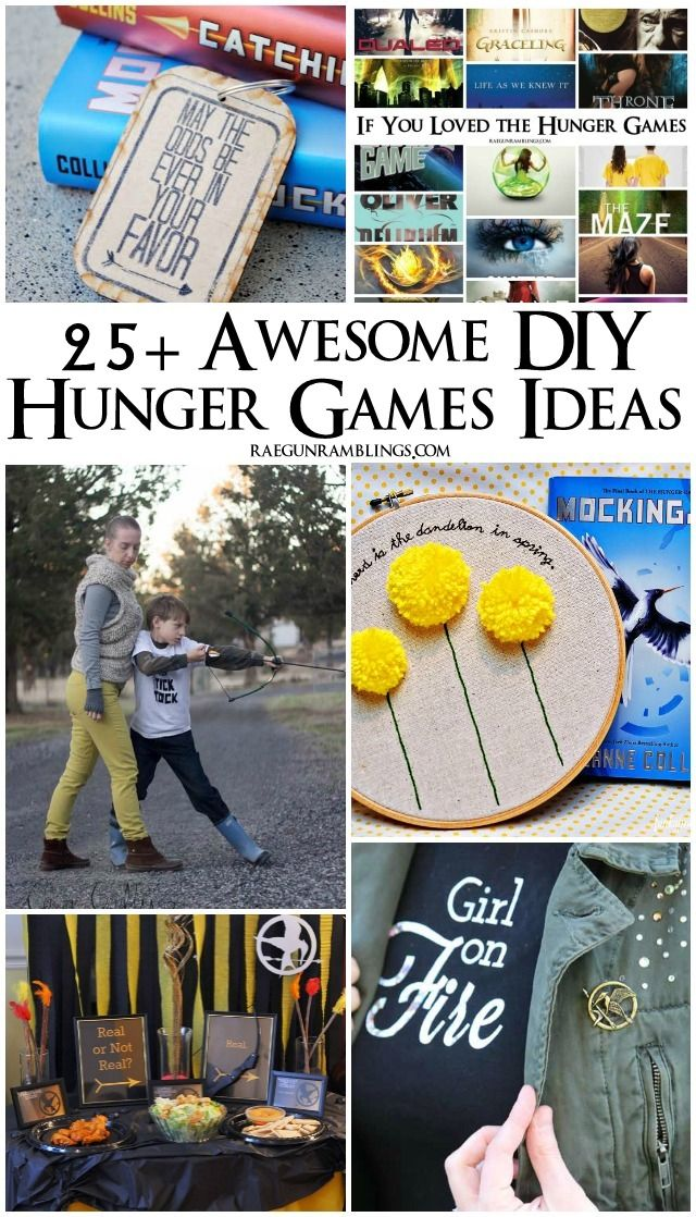 Lots of great Hunger Games crafts, party ideas, recipes, book recommendations and more - Rae Gun Ramblings