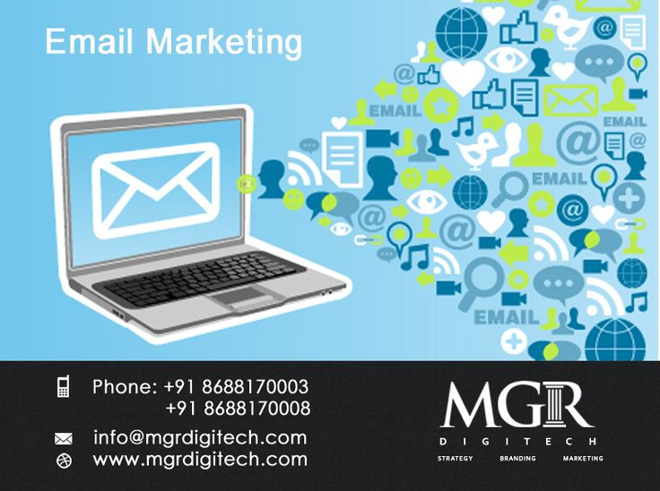 Email marketing : Email provides a cost-effective method to test different marketing  content, including visual creative, marketing copy and multimedia  assets. The data gathered by testing in the email channel can then  be use across all channels of marketing campaigns, both print and digital. MGRDIGITECH provides services for Email Marketing.  For more details please contact us: Contact details Phone: +91 8688170003, +91 8688170008 Email-Id:info@mgrdigitech.com Website :www.mgrdigi