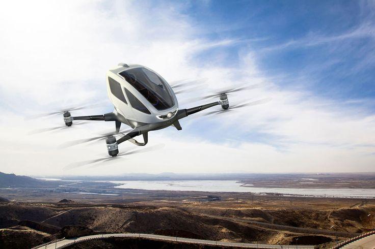 """Le constructeur EHang, inventeur du véhicule autonome """"EHang 184"""", a eu l'accord du Nevada pour débuter des tests de vols. Ce partenariat vise à dével..."""