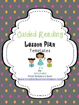 Guided reading templates for emergent, early and transitional readers.  Formatted to be one page per day.  They are based of Jan Richardson's levels and suggested steps in guided reading lessons.