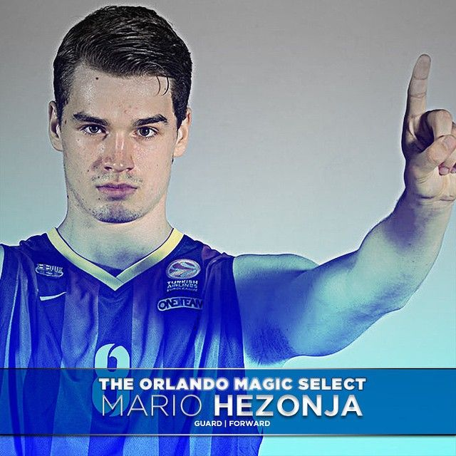 Double-tap to celebrate! The Magic select Mario Hezonja with the No. 5 overall pick in the 2015 @NBA Draft! #MagicDraft #PureMagic
