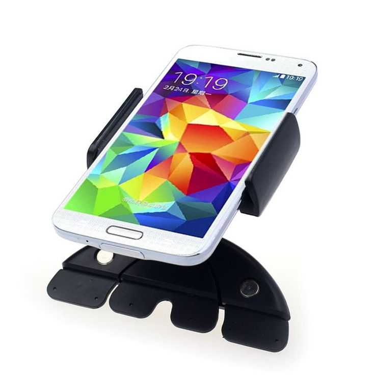 "5"" 7"" 10"" CD Slot Car Mount Holder 360 Degree Swivel Universal Black Cradle-less Car Phone Holder For iPhone Android GPS Stand"