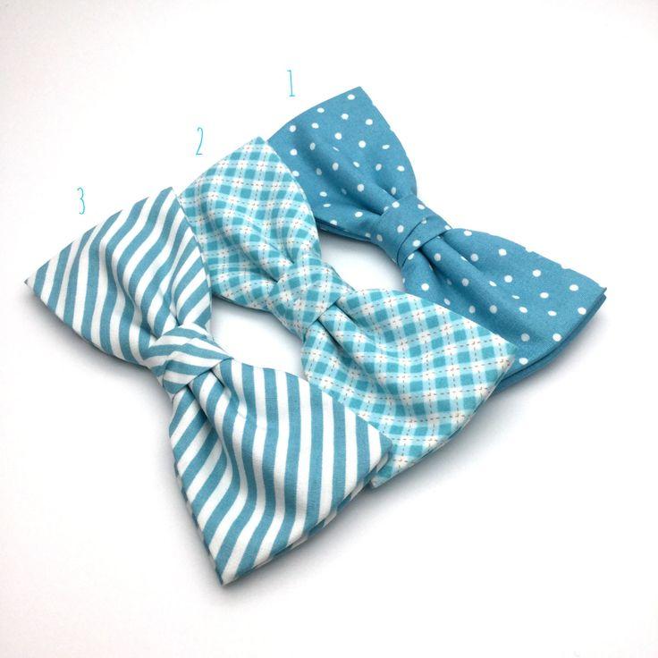 Men's Bow tie Robin Egg Blue Turquoise Bow Tie Pre Tied wedding groomsmen groom polka Dot spot Striped Checked Men Boy Baby Kid Bowtie Gift