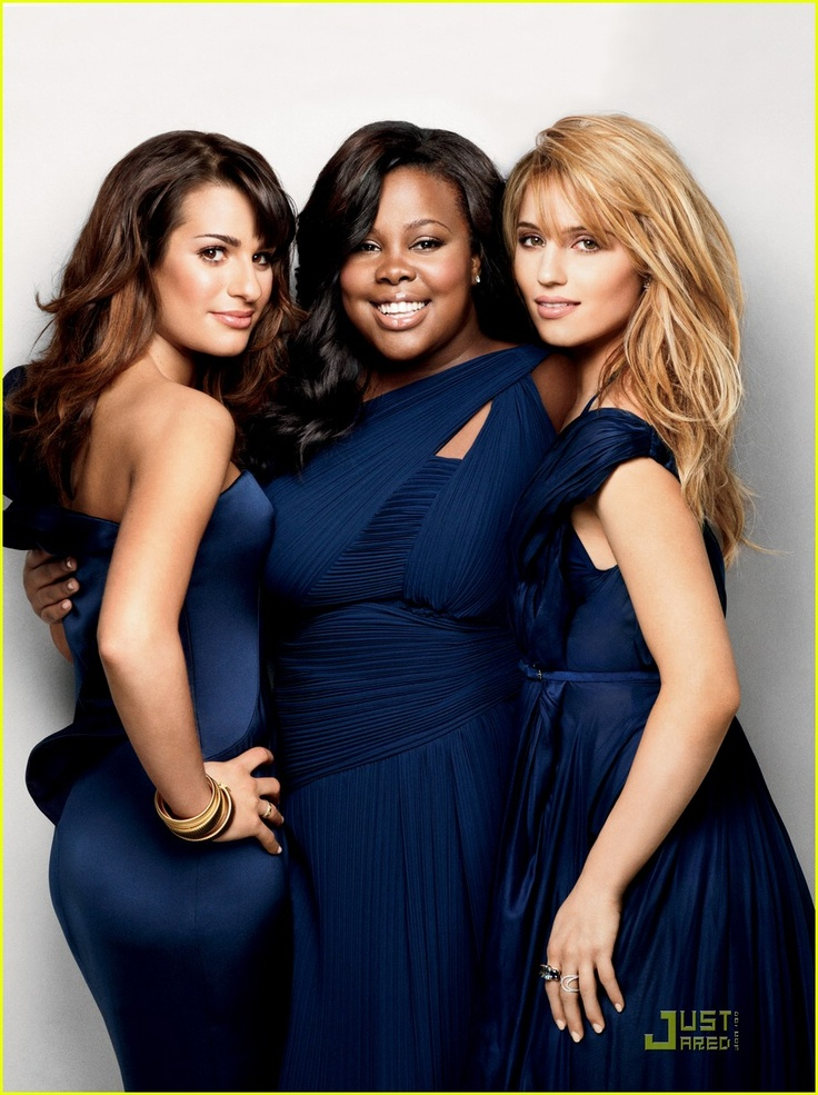 Lea Michele, Amber Riley, and Dianna Agron on Marie Claire cover