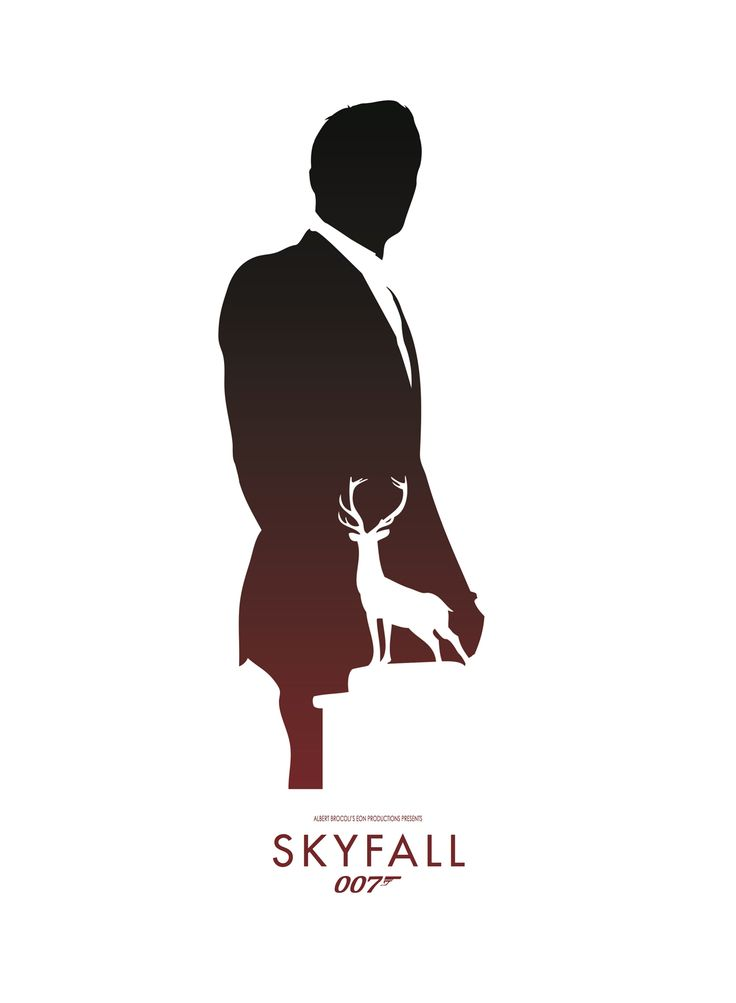 Minimalistic movie poster for Skyfall