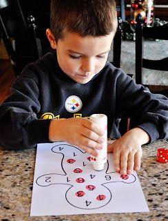 Atividades de aprendizagem das crianças: Gingerbread Número Atividade