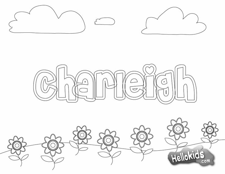 "Print your name coloring pages for first day of school!  Just printed 3 for free!  Quick and easy and very cute! They had several choices of backgrounds. The font I used here is ""Cheriley""."
