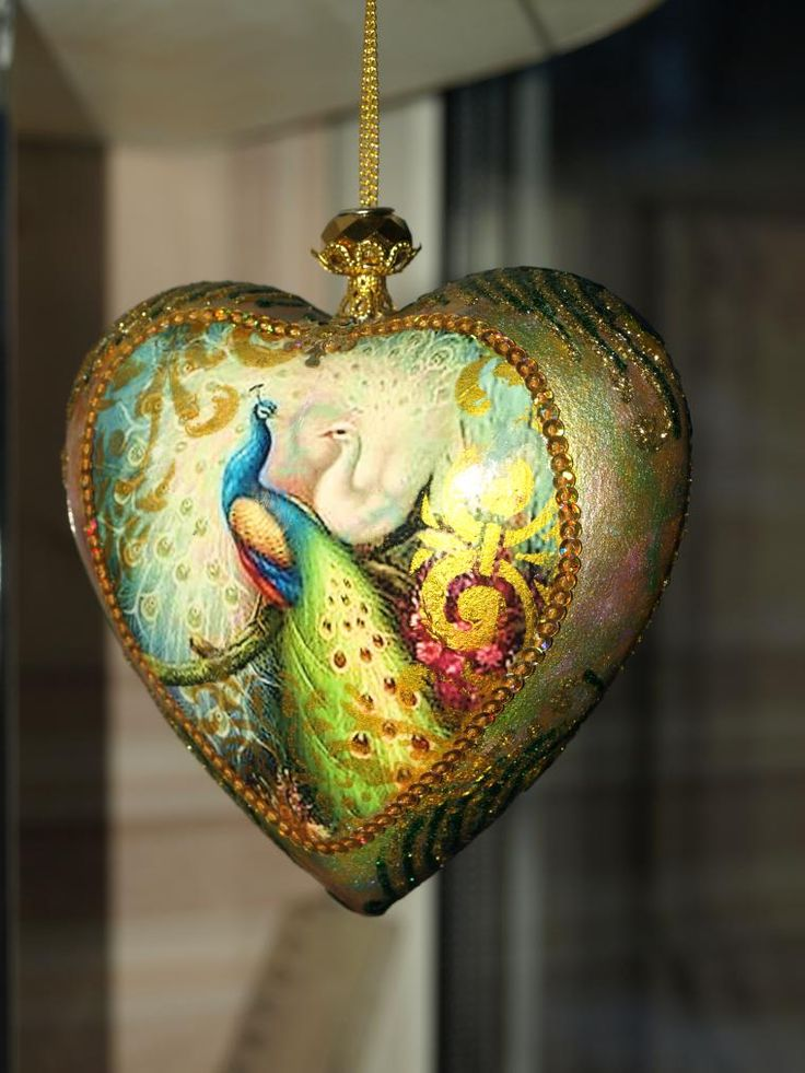 Любовь бессмертна! Елочные игрушки. Павлин - символ бессмертия - Ярмарка Мастеров - ручная работа, handmade