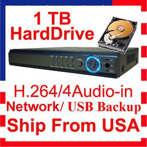 8ch 8 Channel CCTV Security Surveillance DVR digital video recorder system 1TB -  US $235.99 - FREE Standard Shipping