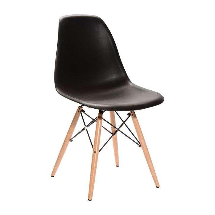 Cadeira Dkr Wood Preta