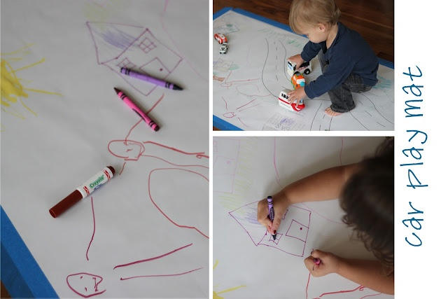 """Playing House: Invitations to Play - Week in Review.  A seriously simple, but brilliant idea!!!  Set up thoughtful """"activities"""" for younger children to find and play with.Crafts Ideas, Children Literacy, Plays House, Invitations To Plays, Cars Plays, Education Crafts, Brilliant Ideas, Plays Invitations, Daycares Ideas"""