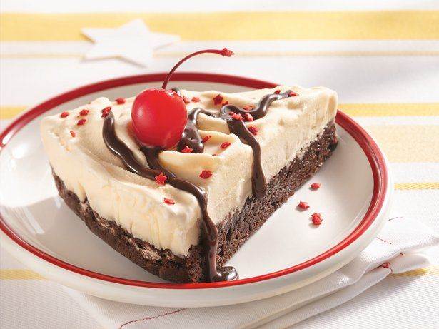 Make a delicious fudgy and frosty ice cream cake. It's easy to make ...
