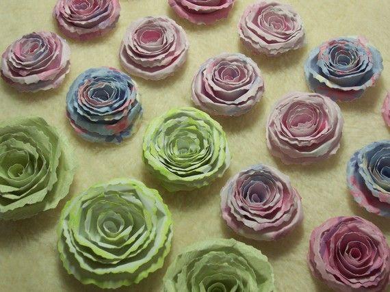 Scrapbook Flowers...18 Piece Set of Very Beautiful Scrapbook