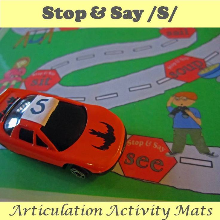 Speech articulation practice has never been this much fun! These activity mats provide ample opportunities to produce target sound /s/ in all word positions. Students will love this alternative to flash cards and work sheets. SLPs will love having an engaging activity on hand that requires minimal prepping. https://www.teacherspayteachers.com/Product/Stop-and-Say-S-Speech-Articulation-Activity-Mat-1835384