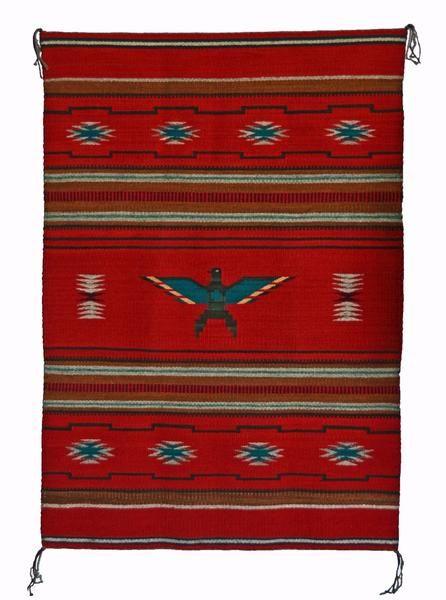 Chinle Pictorial Navajo Weaving : GH : Churro 1519