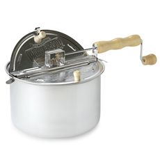 The Original Whirley Pop™ Stovetop Popcorn Popper. I've been looking for one of these!