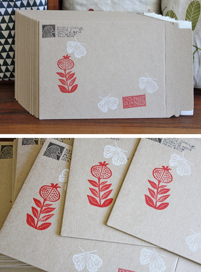 mailers stamped by Geninne