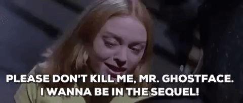 scream rose mcgowan scream movie please dont kill me mr ghostface i wanna be in the sequel #humor #hilarious #funny #lol #rofl #lmao #memes #cute