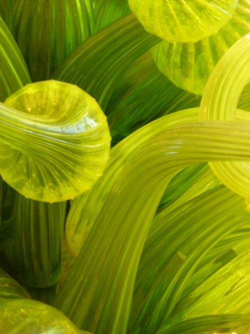 detail of chihuly chandelier @ corning glass museum