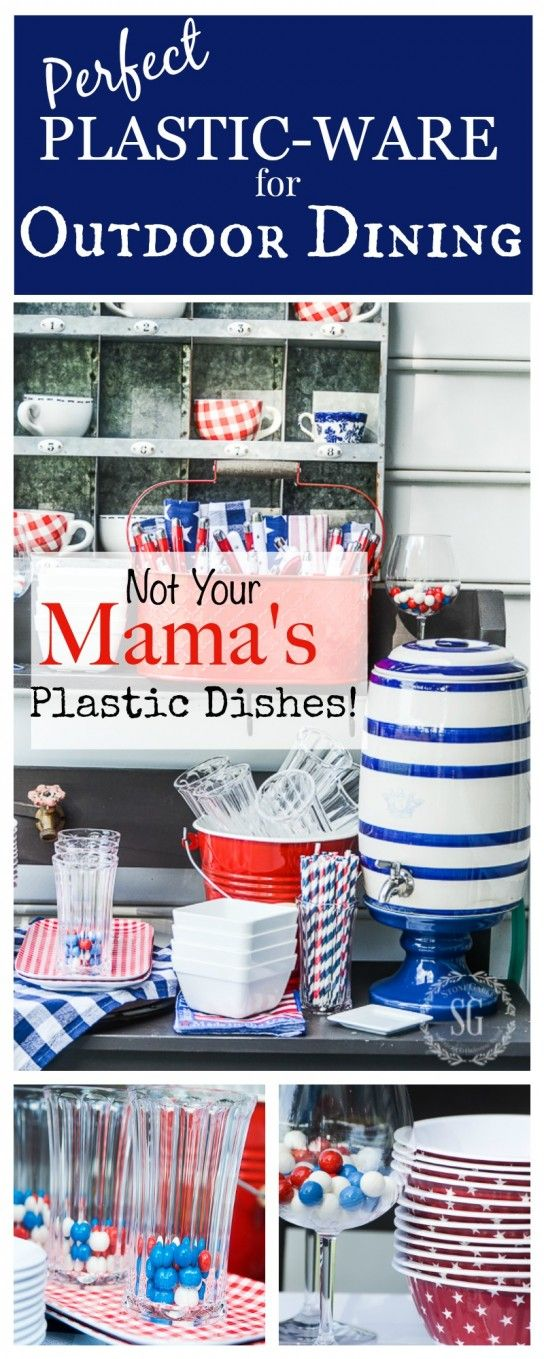 FABULOUS PLASTIC OUTDOOR DINNERWARE  Yes, You Can Use Plastic Plates... And