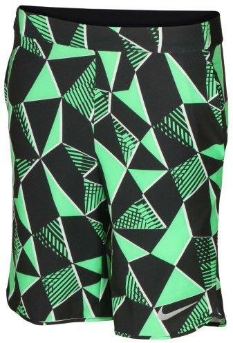 Nike Big Boys' Dri-Fit Flex Ace Tennis Shorts-Green-XL
