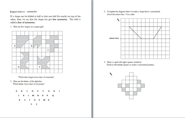 KS2 Maths for SATS - symmetry time and shapes questions from various past papers grouped together.
