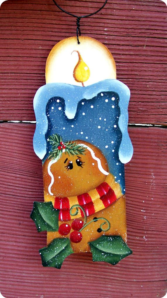 Ginger Thyme Candle Ornament by CountryCharmers on Etsy, $7.50