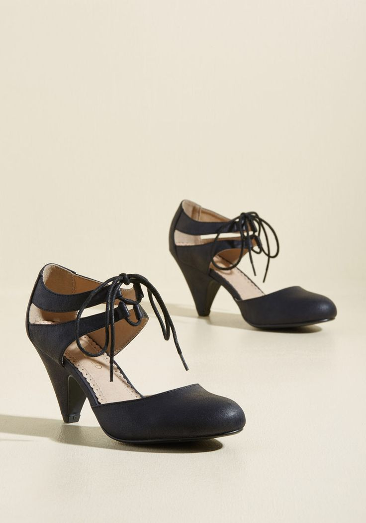 Shimmy Some More Heel in Black, #ModCloth