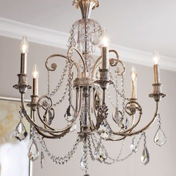 Silver Leaves Gold Chandelier Under 450 00 Delphine Chandeliers From Horchow