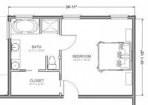 planos-de-dormitorios-con-bano-y-vestidor-con-medidas ...
