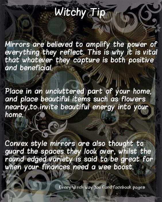 Mirrors…..(Magickal Tips) | Witches Of The Craft®