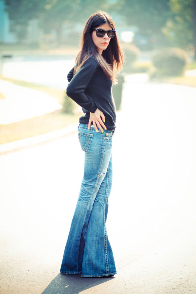 I like it. I never really liked skinny jeans, I love Boot leg jeans, because they allow your hips to be bigger....If you have large hips, wear a wide leg jean....Makes them look smaller...ee...
