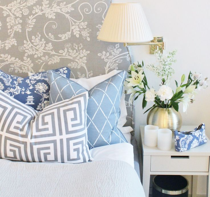 blue & gray pillows from ELCE STOCKHOLM