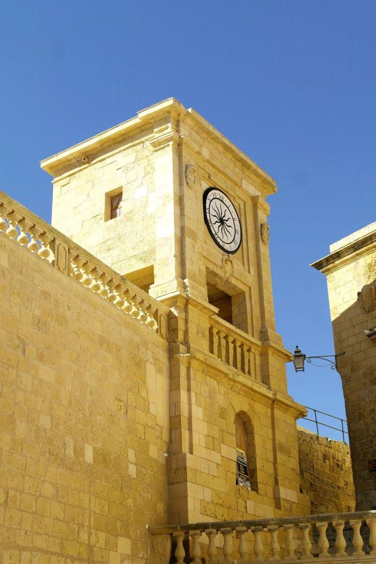 #Citadel #Victoria #Gozo #Malta #clock #tower