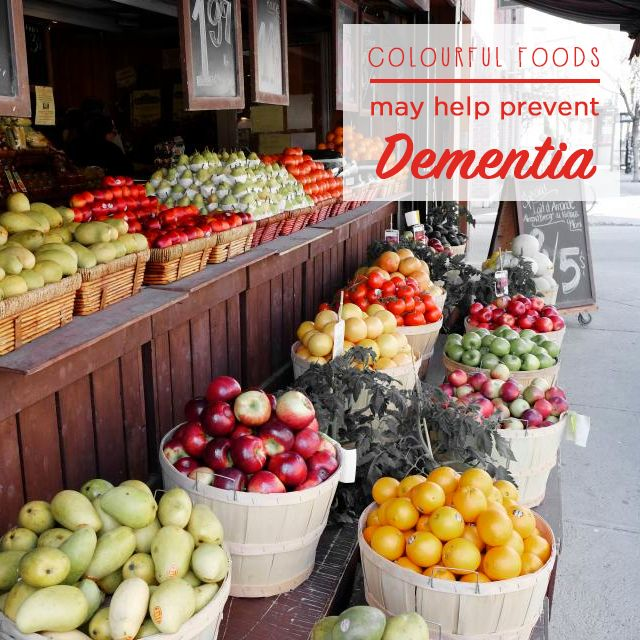 Colourful foods give you the best chance to help prevent dementia! Discover the link between food and the mental disease: Simply click on the picture!