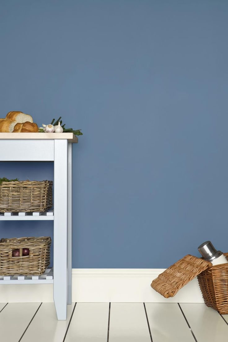 Farrow & Ball - Cooks Blue - looks great in a little boy's room with white furniture