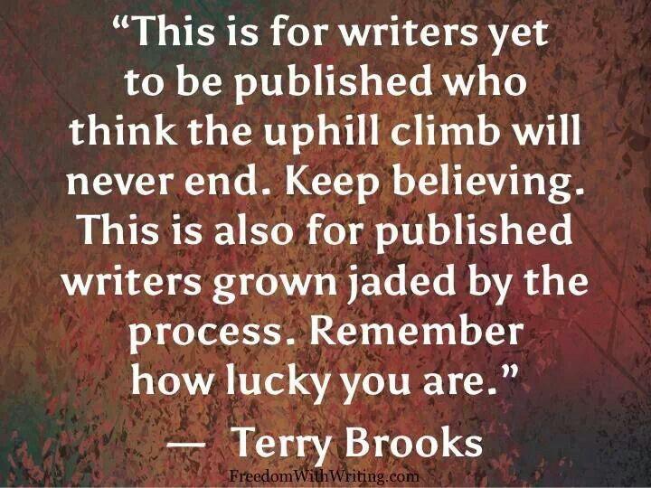 Terry brooks writing advice author