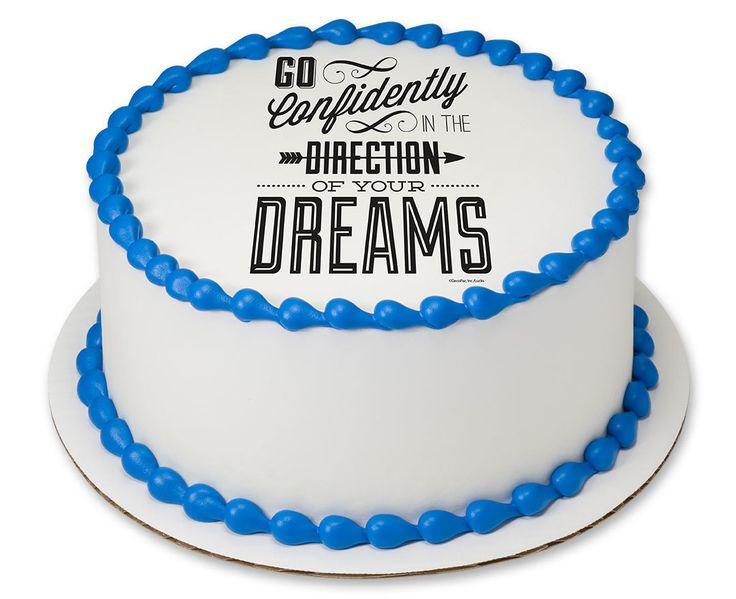 """Go Confidently PhotoCake® Edible Cake Image, 7.5"""" Image"""