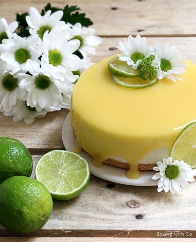 Cheesecake de lima sin horno / No oven lime cheesecake