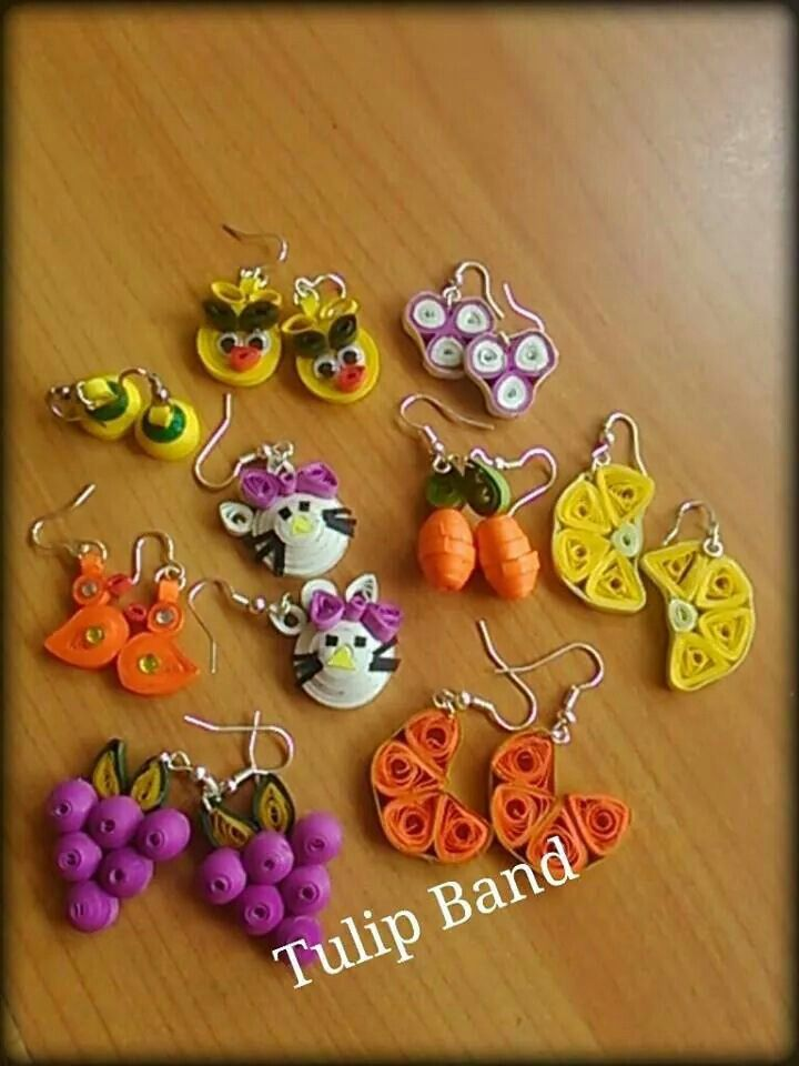 Quilled Earrings - by: Shruti